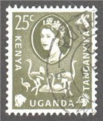 Kenya, Uganda and Tanganyika Scott 124 Used